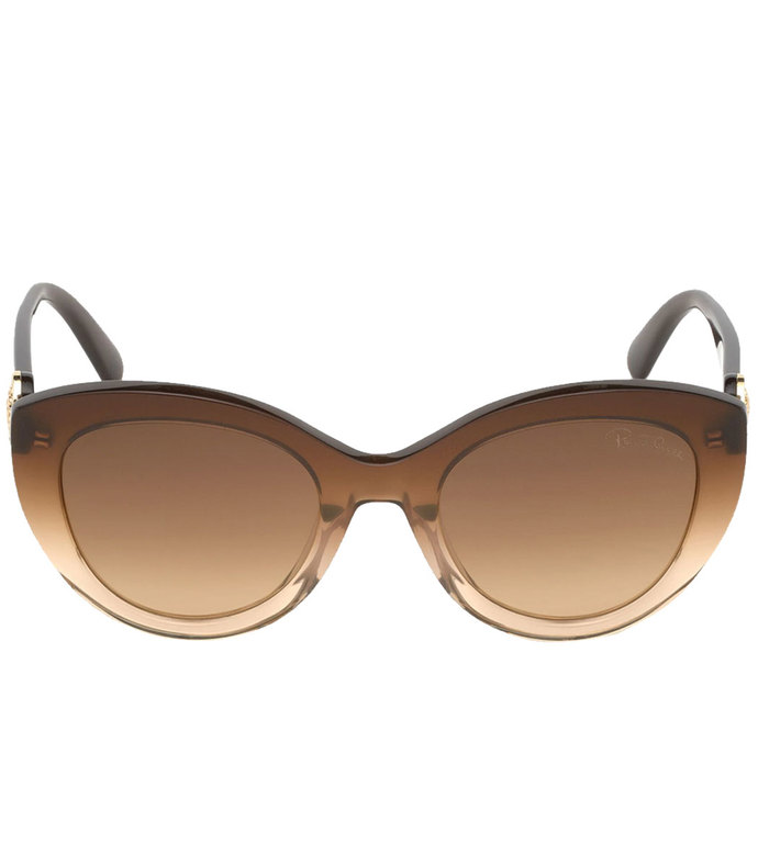 chic cat eye frames with flaunt signature logo detail