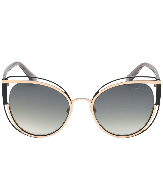 cat eye frames sunglasses in radiant goldstone with signature logo detail