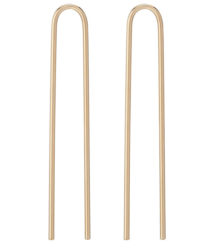 clean hair pin set, yellow gold plated brass