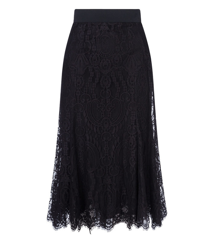 long chantilly lace skirt