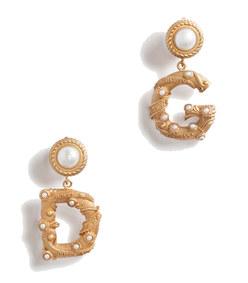 pendant earrings with logo