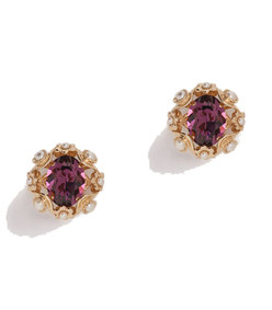 clip-on earrings with rhinestones