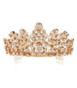 tiara with rhinestones