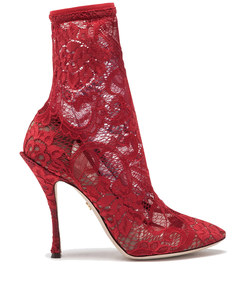 stretch lace boot