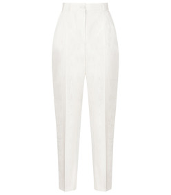 high-waisted moire pants