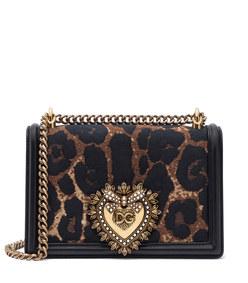 medium devotion bag in leopard-print jacquard