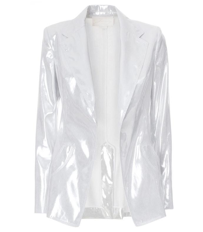 silver lamé  blazer