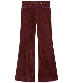stonewashed cotton flare pant
