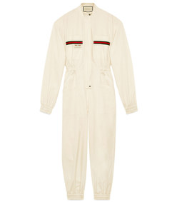 cotton jumpsuit with gucci label
