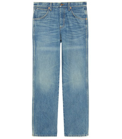 marble washed denim pant