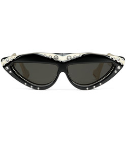 oval sunglasses with crystals