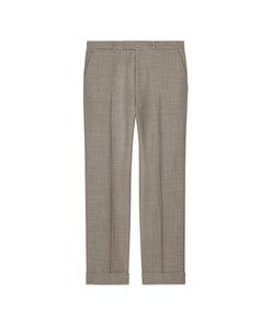 men's houndstooth wool pant