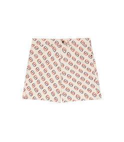 men's shorts with oval interlocking g print