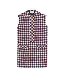 check tweed tunic dress