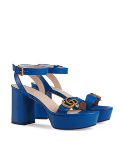 platform sandal with double g