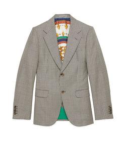 men's houndstooth wool jacket