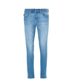 skinny jeans with grosgrain stripe