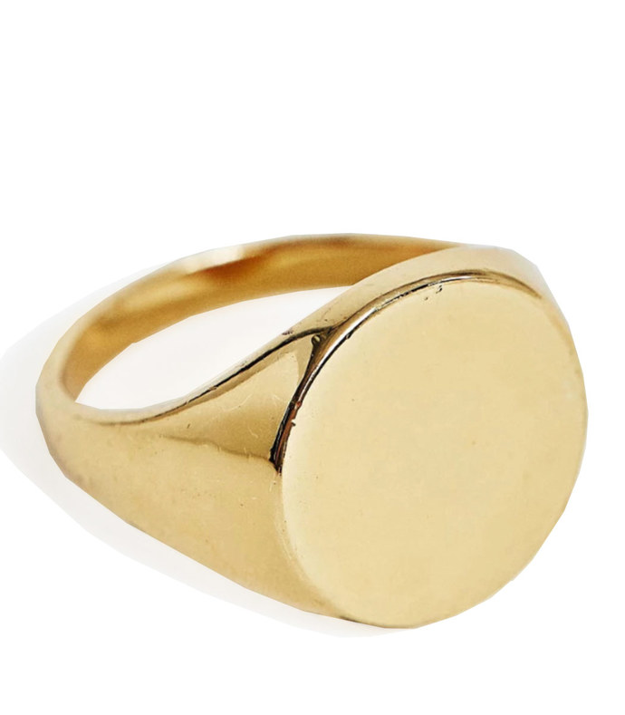 14k gold plated signet ring