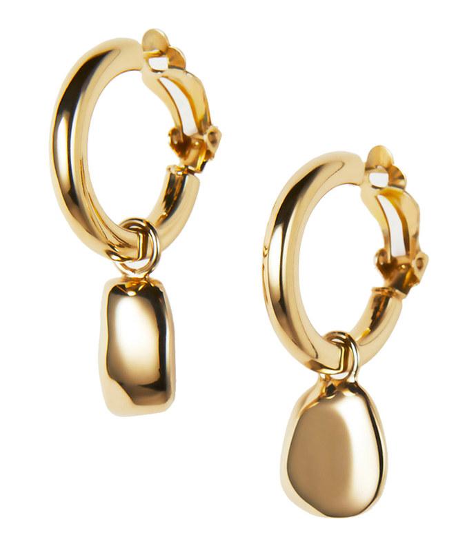 sculptural charm hoop earring