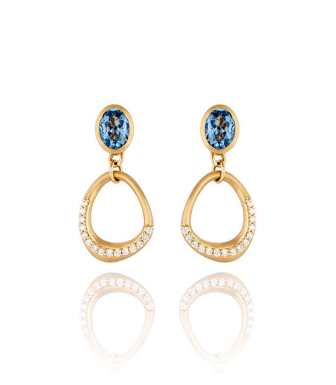 blue dune drop earrings