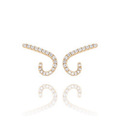 modernist diamond pavé ear crawlers