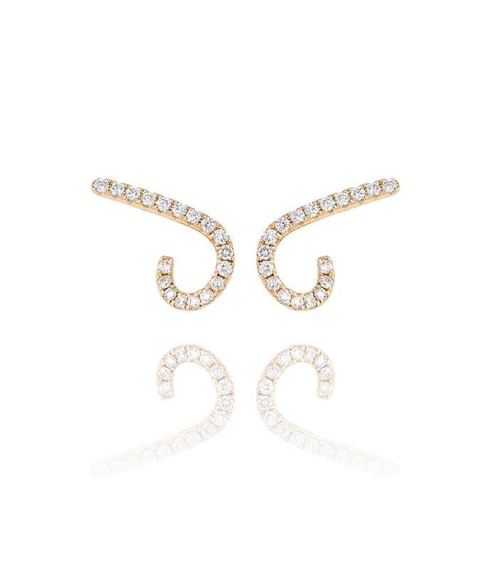 modernist diamond pavé ear crawlers
