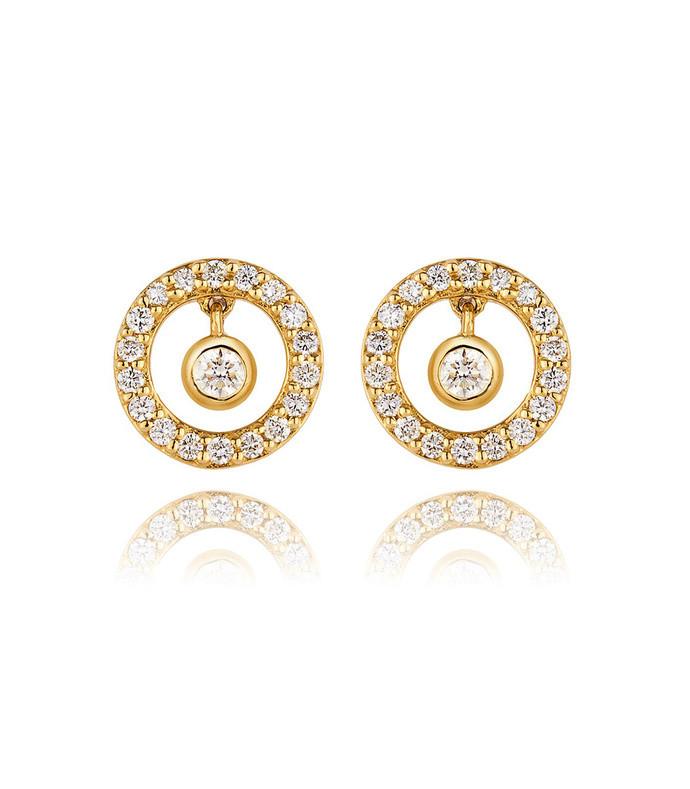 modernist sun shimmer stud earrings