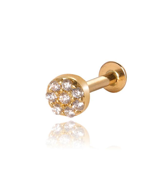 halo mini full diamond labret (single)