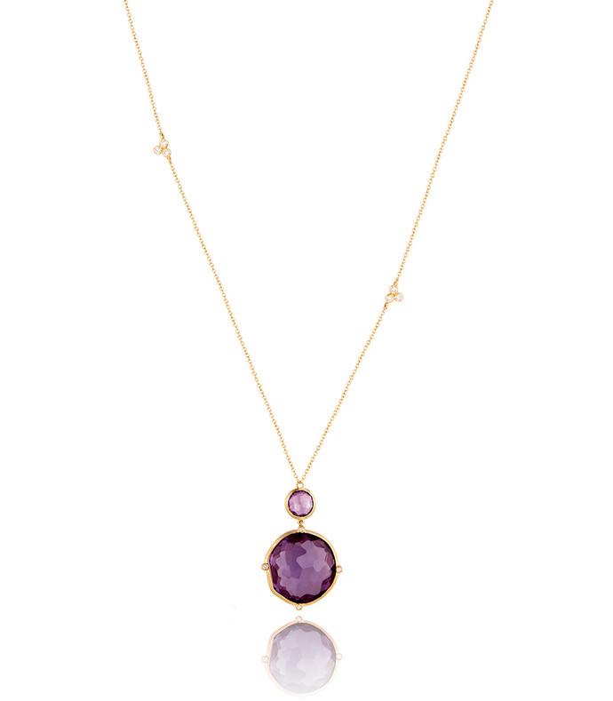 dune purple sapphire pendant