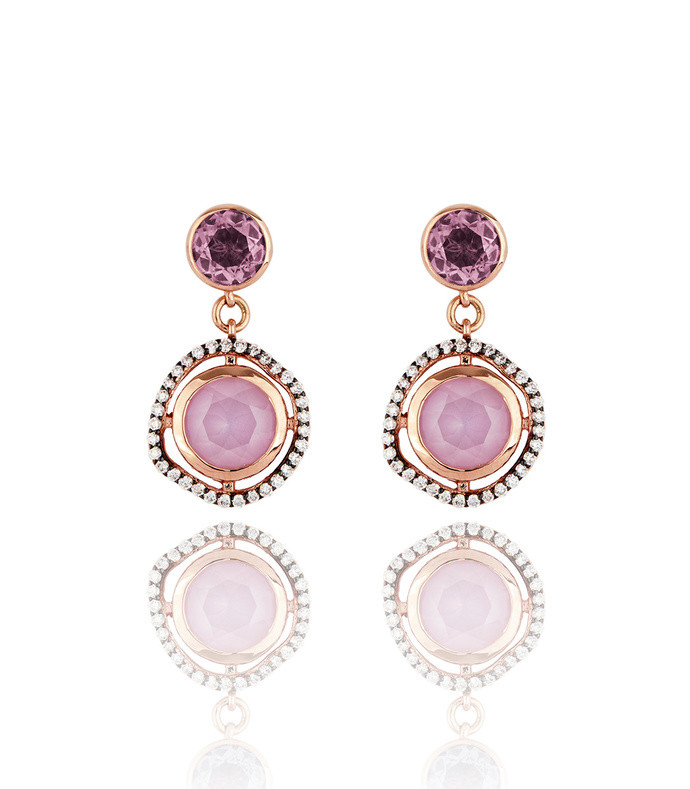 dark halo sapphire drop earrings