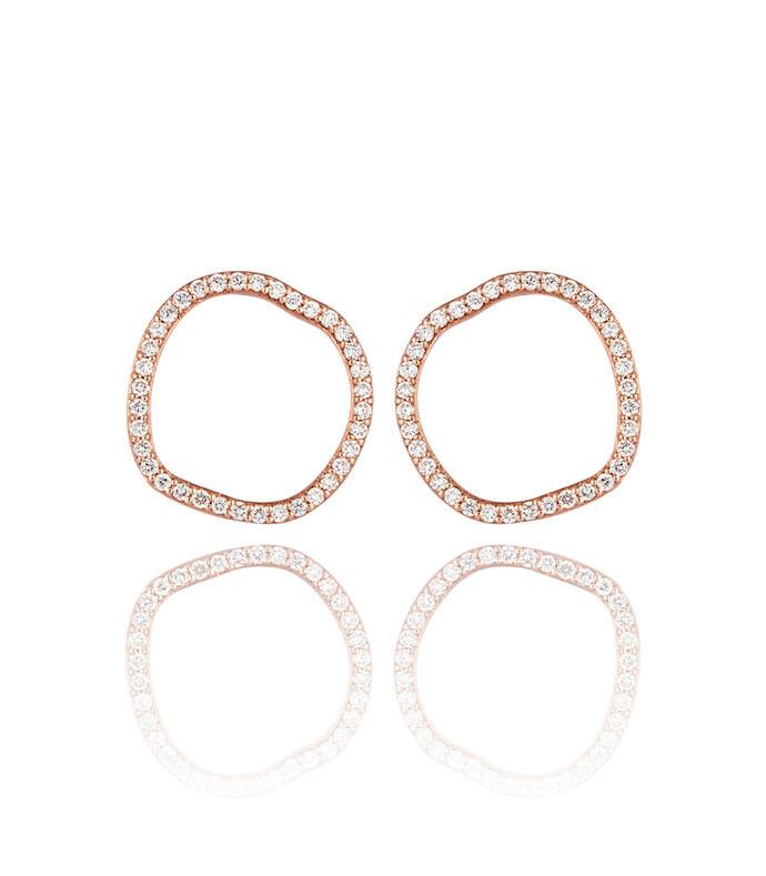 halo diamond stud earrings