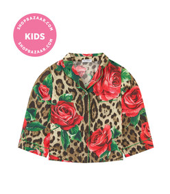 dolce & gabbana -  mini me flower printed shirt