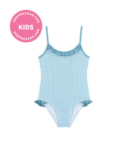 les ultraviolettes - uv sun protection gingham one-piece