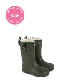 aigle - khaki rain boots - woody pop