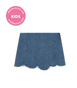 il gufo - jean skirt