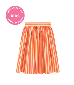 molo - mid-length stripe print skirt
