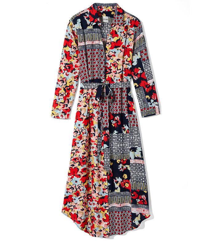 mixed up blooms shirt dress