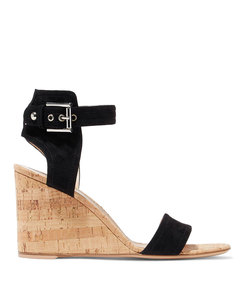 rikki suede wedge sandals