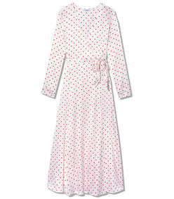dufort polka-dot silk-blend satin midi wrap dress
