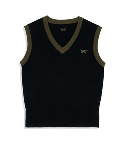 two tone sweater vest