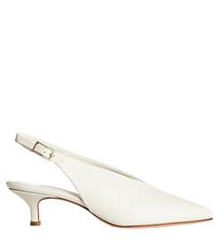 white lia heels