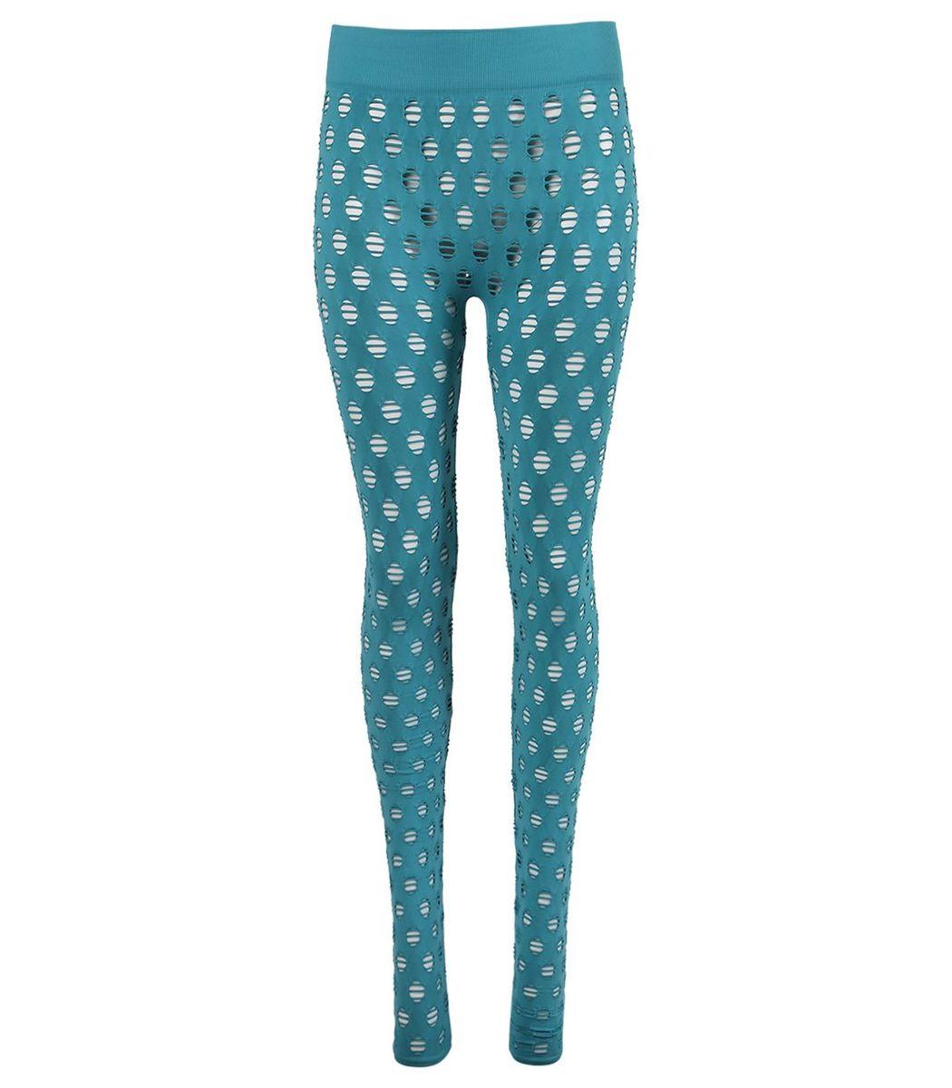Maisie Wilen Perforated Leggings, Aqua
