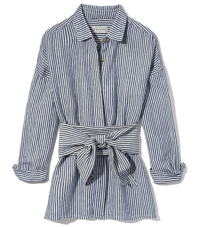 striped linen ren shirt