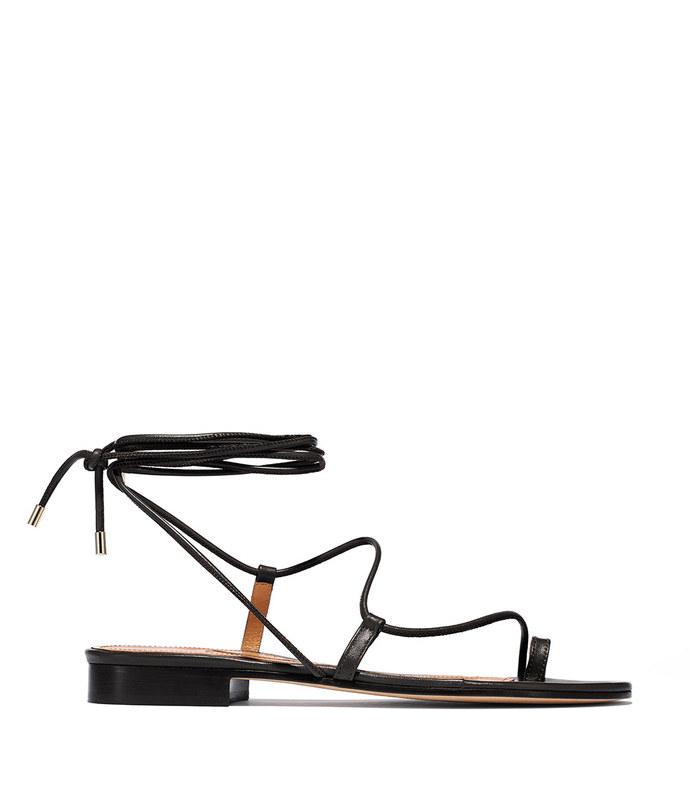susan sandal in black nappa