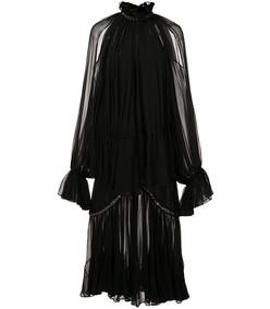 black grommet ruffle dress