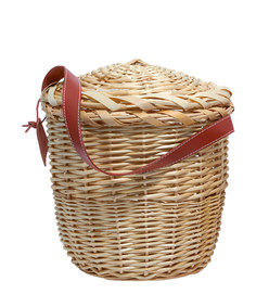 small tan birkin basket