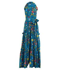 blue tatiana silk crepe dress