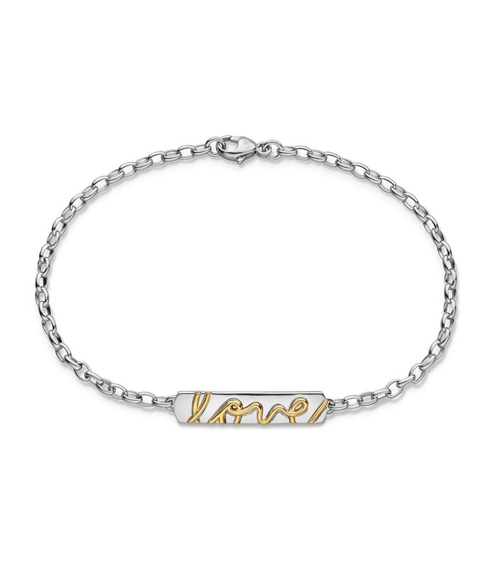 engraved love posey bracelet