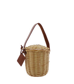 tan mini birkin basket