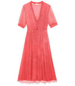 the ivy dress-coral